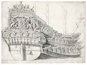 Willem van de Velde de Oude - Portret van een Nederlands oorlogsschip.jpg