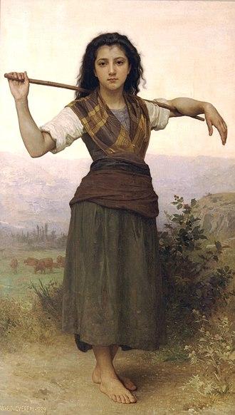 Idyll - The Shepherdess by Bouguereau, 1889