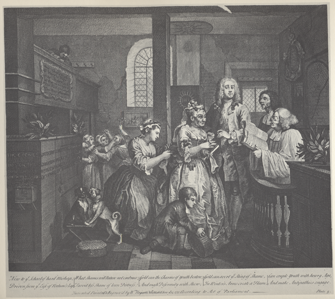 through a detailed analysis of a rakes progress From hogarth's 1731-2 series, a harlot's progress (costume in detail, pg 10).