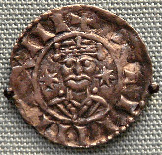 "Sterling silver - Norman silver pennies changed designs every three years. This two-star design (possible origin of the word ""sterling""), issued by William the Conqueror, is from 1077–1080."