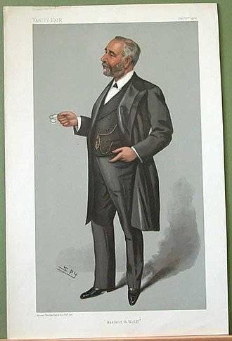 "William Pirrie, 1st Viscount Pirrie - ""Harland and Wolff"". Caricature by Spy published in Vanity Fair in 1903."