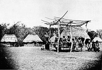 Indian Territory - Caddo village near Anadarko, 1870s