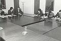 William Waldegrave visiting University of Salford 1981.jpg