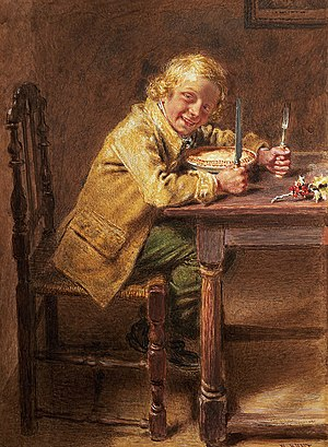 Mince pie - Christmas Pie, by William Henry Hunt