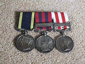 George Willoughby (soldier) - Willoughby's campaign medals