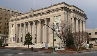Wilson County, North Carolina - Image: Wilson County NC courthouse from SSW 1