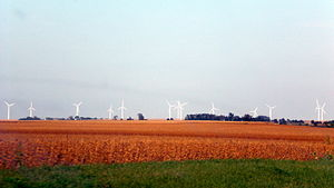 Bradford, Illinois - Crescent Ridge Wind Farm, east of Bradford
