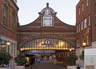 Windsor & Eton Central railway station - The main entrance to the station, opposite Windsor Castle