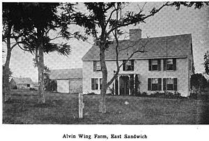 Wing Fort House - An 1898 photograph of the house