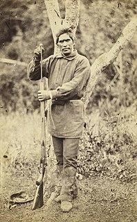 Wiremu Tamihana Leader of the Ngati Haua Māori