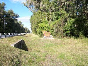 Withlacoochee State Forest - Northbound entrance sign on US 41