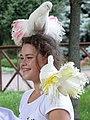 Woman Posing with Doves - Rotunda of Peoples' Friendship Poltava - Ukraine - 02 (42920313225).jpg