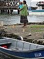 Woman and Child at Waterfront - Livingston - Izabal - Guatemala (15715273419).jpg