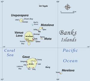 Vanua Lava - Image: Womtelo Map Banks Vanuatu 1000