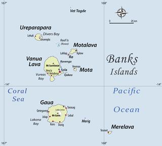 Vot Tande Island in Torba Province, Vanuatu