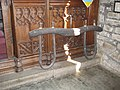 Wooden ox yoke at St Kew church.jpg