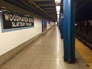 Woodhaven Boulevard station (IND Queens Boulevard Line) New York City Subway station in Queens
