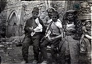 Wounded Muslim refugees at the Hasankale conflict of Caucasus Campaign in WWI