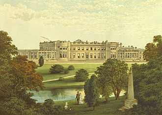 North East England -  Wynyard Park circa 1880 now a fine Country House Hotel, Wynyard Hall