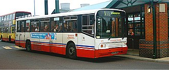 Yorkshire Traction - Alexander PS bodied Scania N113 at Meadowhall Interchange in 2005