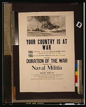 Naval militia - Image: Your country is at war LCCN2001700447