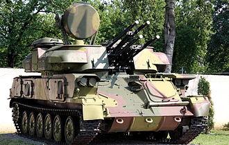 ZSU-23-4 - A ZSU-23-4 on display