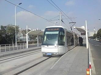 Trams in China - The Zhangjiang tram opened in 2010