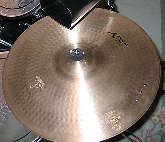 "Sizzle cymbal - Zidjian 19"" Armand Ride with a three-rivet cluster"