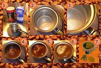Türk Kahvesinin hazırlanışı