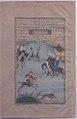 """Bahram Gur on the Chase"", Folio 10r from a Haft Paikar (Seven Portraits) of the Khamsa (Quintet) of Nizami MET 13.228.13.2 Gallery 6.jpg"