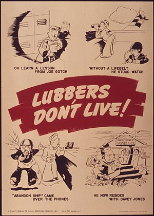 "Davy Jones' Locker - Image: ""Lubbers don't live Oh learn a lesson from Joe Gotch"" NARA 514926"