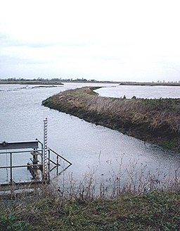 """New"" wetland, Wallasea Island - High tide - geograph.org.uk - 303731"