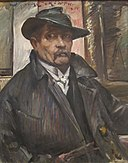 'Self-portrait with Hat and Coat' by Lovis Corinth, 1915.JPG