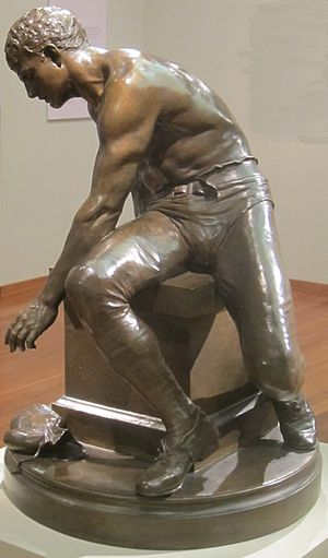Douglas Tilden - Image: 'The Tired Boxer', bronze sculpture by Douglas Tilden