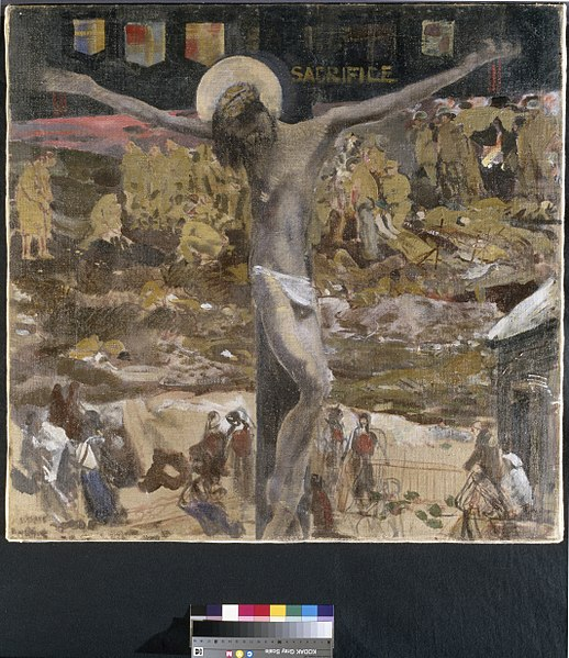 File:'sacrifice'. Study for the painting in Ottawa. Art.IWMART5581.jpg