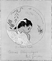 """(""""Leda"""") Design for a Plate- Shame on Those Who Evil Think (Honi Soit Qui Mal y Pense) ; cover illustration for the """"Volpini Suite"""" entitled Lithographic Drawings (Dessins lithographiques) MET MM2335.jpg"""