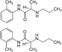 (±)-Prilocaine Structural Formulae.png