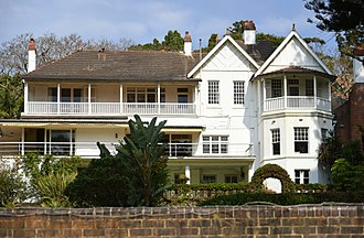 Fairfax family - Elaine, the home of Sir Vincent Fairfax and his family in Point Piper