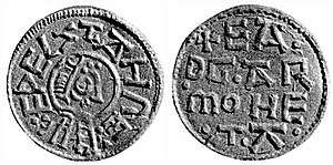 Æthelstan of East Anglia - a coin from the reign of Æthelstan.