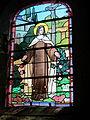 Église Notre-Dame de Coulouvray-Boisbenâtre - Vitrail Sainte-Thérèse.JPG