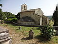 Église Saint-Martin-les-Eaux, chevet-cimetière.JPG