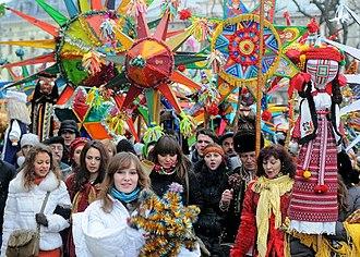 Koliada - Verteps parade. Lviv, Ukraine
