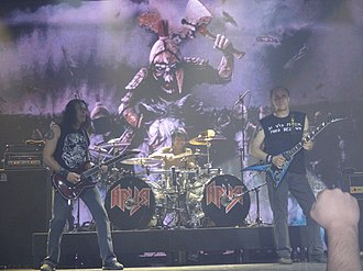 Rock music in Russia - Aria is one of Russia's most popular heavy metal bands