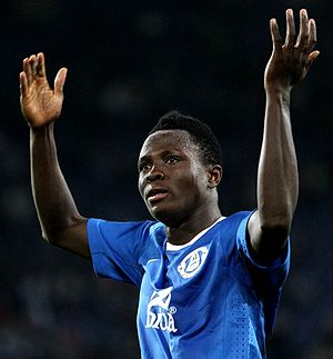 Samuel Inkoom with Dnipro Dnipropetrovsk in March 2011