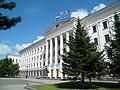 Флаг Российской Федерации, флаг Хабаровского края и флаг Хабаровска.JPG