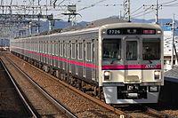 京王7000系電車@長沼駅.JPG