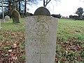 -2018-12-10 CWGC gravestone, Private W Thirst, Saint Margaret of Antioch parish church, Suffield, Norfolk (1).JPG