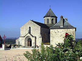 The church of Saint-Aignan, in Ladignac-le-Long