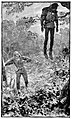 04 Dick, leaning on the tree trunks as he went, drew nere to this grim object-Illustration by H. M. Paget (1856-1936) for The Black Arrow by RL Stevenson - courtesy of British Library.jpg