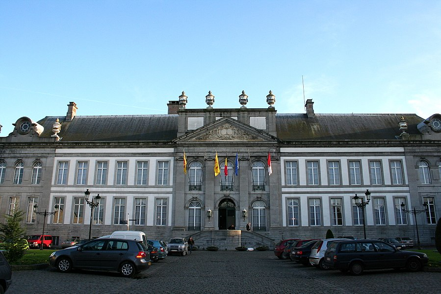 Tournai  (Belgium), the old Abbot palace of the St. Martin abbey (1763) actual City hall.